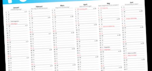 årskalender