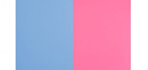 blått och rosa